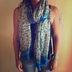beautiful silk floral scarf